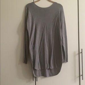 Gray long sweater